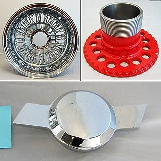 DONGFANG 13x7 REV Reverse 72 Spoke Wire Wheels Cross Lace Chrome Rims 4pcs