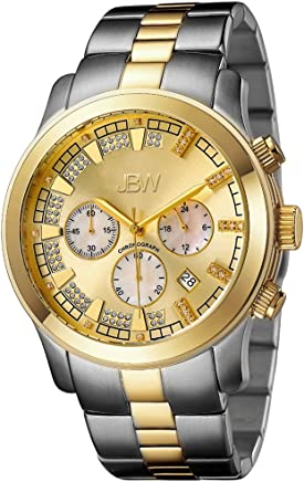 JBW Delano Men's 22 Diamonds 18K Gold Plated & Stainless Steel H-link Watch - JB-6218-C