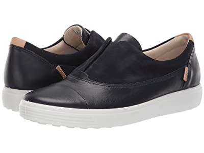 ECCO Soft 7 Slip-On II (Night Sky/Night Sky Cow Leather/Cow Nubuck) Women