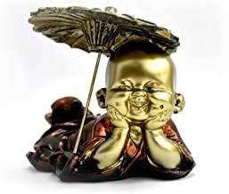 Adorable Cute Laughing Monk Gold platted Figurine EM-19-001001/3