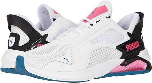Puma White/Puma Black/Luminous Pink