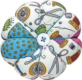 eZAKKA Pin Cushion Wrist Pins Cushions Wristband Wearable Needle Pincushions for Sewing Quilting Pins Holder (Sewing Necessities Pattern Green)