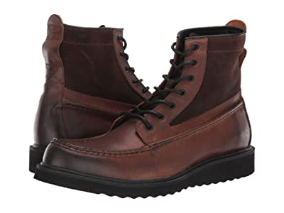 FRYE AND CO. Montana Moc (Brown Multi Leather/Waxed Suede) Men
