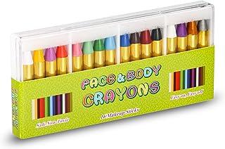 UNEEDE Pintura Facial, 16 Colores Pinturas Cara para Niños Face Body Paint Crayons Seguros y No Tóxicos Maquillaje Carnival Set para Halloween, Birthday, Navidad, Cosplay,Fiestastura