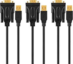 USB to RS232 Adapter with PL2303 Chipset(3-Pack),CableCreation 3ft Gold Plated USB 2.0 to RS232 Male DB9 Serial Converter Cable for Windows 10, 8.1, 8,7, Vista, XP, 2000, Linux and Mac OS 10.6, Black
