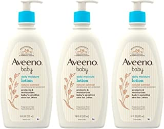 Aveeno Baby Aveeno Baby Daily Moisture Lotion With Colloidal Oatmeal & Dimethicone, 3 X 18 Fl. Oz, 54.0 Fl Oz (Pack of 4)