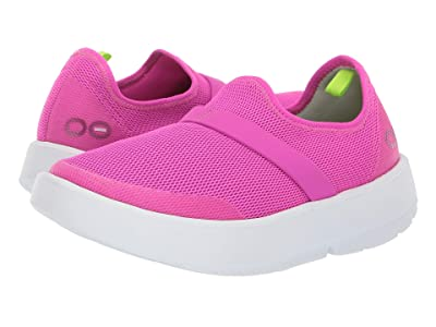 OOFOS Oomg (White/Pink) Women