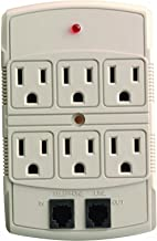 Coleman Cable 04630 6-Outlet Adapter with DSL/Phone Protection