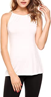 SoTeer Womens Casual Loose Cotton V Neck Camisoles Cami Tank Tops - S-XXL