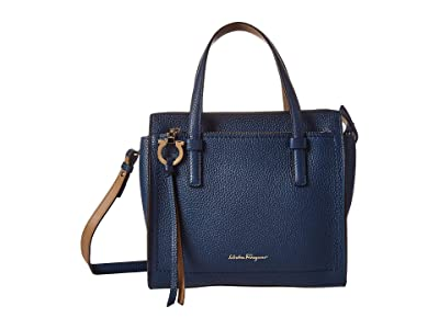Salvatore Ferragamo Amy Tote (Deep Sky (Blue)) Handbags