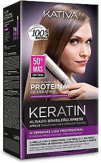 KATIVA Alisado Brasileño de Pelo Hidratante con Keratina y Aceite de Argán orgánico
