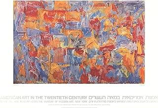 1980 Jasper Johns Map Poster