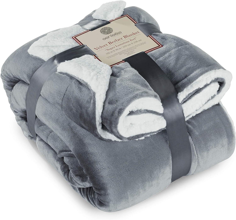 Genteele Now free shipping Sherpa Throw Blanket Super Reversible Luxuri Cheap mail order shopping Ultra Soft
