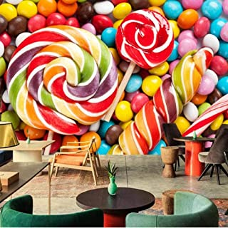 ZDBWJJ Sweets Candy Food Wallpapers Coffee Shop Dining Room Living Room Sofa TV Wall Kitchen 3D Wallpaper Mural -120cmx100cm