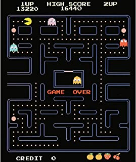 Surreal Entertainment Pac-Man Game Over Screen Fleece Throw Blanket