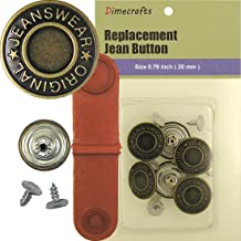 20 mm Replacement Jean Tack Buttons CT. 6 w/Tool