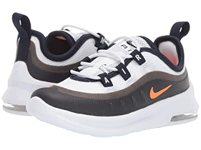 Nike Kids Air Max Axis (Infant/Toddler) (White/Total Orange/Obsidian) Boys Shoes