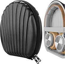 Geekria Seashell Headphone Case for B&O H9i, H9, H8, H7 H6, H4, H2 Bang & Olufsen Headphones and More, Beoplay Protective Hard Shell Travel Carrying Bag with Room for Accessories