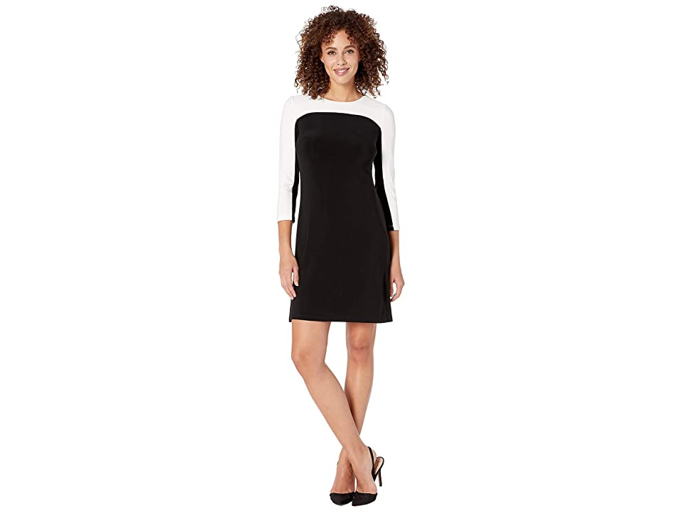 Tommy Hilfiger Solid Jersey Dress (Black/Ivory) Women