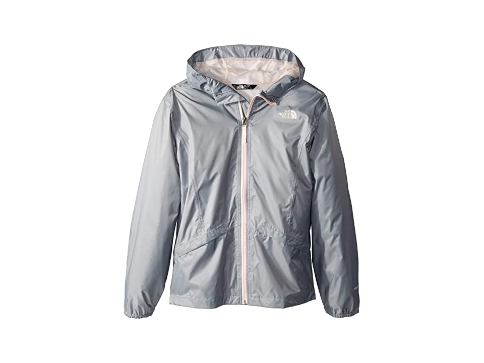 The North Face Kids Zipline Rain Jacket (Little Kids/Big Kids) (Mid Grey) Girl