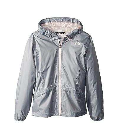 The North Face Kids Zipline Rain Jacket (Little Kids/Big Kids) (Mid Grey) Girl