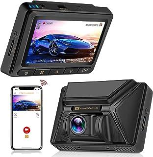 Oasser Dash CAM Cámara Coche Grabadora WiFi 2160P 128GB GPS Amplio Ángulo 170° Súper Condensador Visión Nocturna G-Sensor Ultra HD WDR Grabación en Bucle Detección de Movimiento