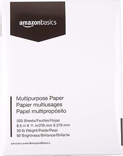 AmazonBasics Multipurpose Copy Printer Paper - White, 8.5...