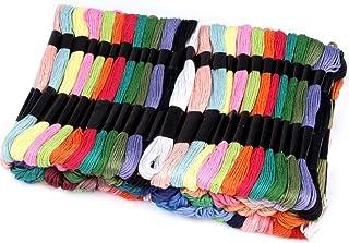 BUSDUGA - Stickgarn , Sticktwist 100stück XXL-Packung je 8meter lang - schöne vers. Farben