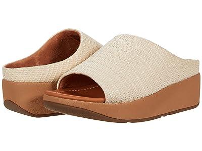 FitFlop Imogen Basket Weave Slides (Stone) Women