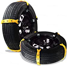 Zone Tech Vehicle Snow Chains - Premium Quality Strong Durable All Weather/Season Anti-Skid Car, SUV, and Pick Up Tire Chains for Emergencies and Road Trip- Set of 10