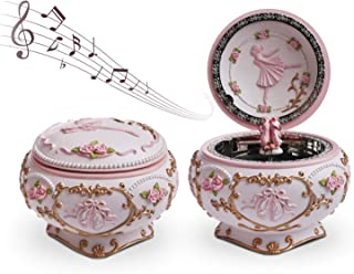J JHOUSELIFESTYLE Anastasia Music Box, Ballet Shoes Rotating as The Music Plays Tune Swan Lake, Great Ballerina Vintage Music Box for Daughter Granddaughters Girls (Renewed)