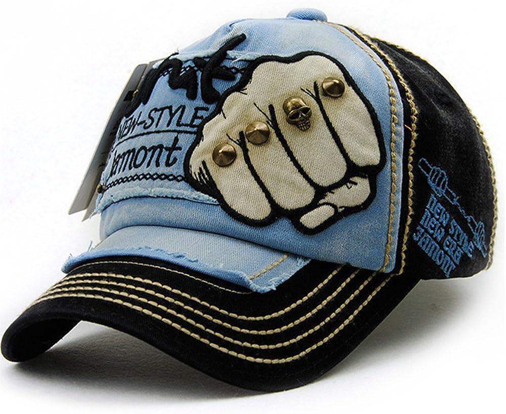 Men Women Denim Distressed Vintage Baseball Ball Cap Casual Outdoor Casual Trucker Adjustable Hat