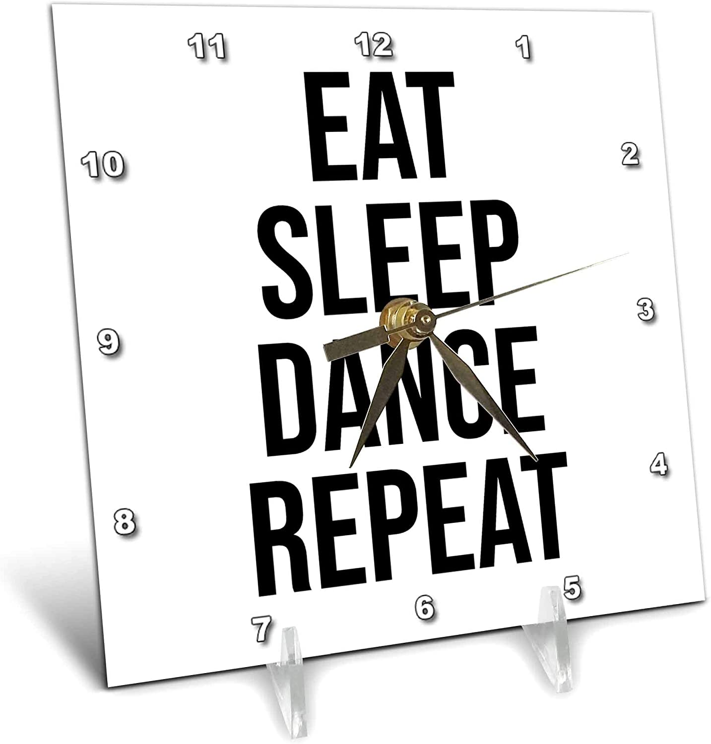 3dRose Stamp City - Typography eat Max 59% OFF Max 60% OFF Bl Repeat. Dance Sleep Bold