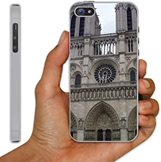 iPhone 5 Case - Notre Dame Cathedral (Outside View of Rose Window) - Clear Protective Hard Case