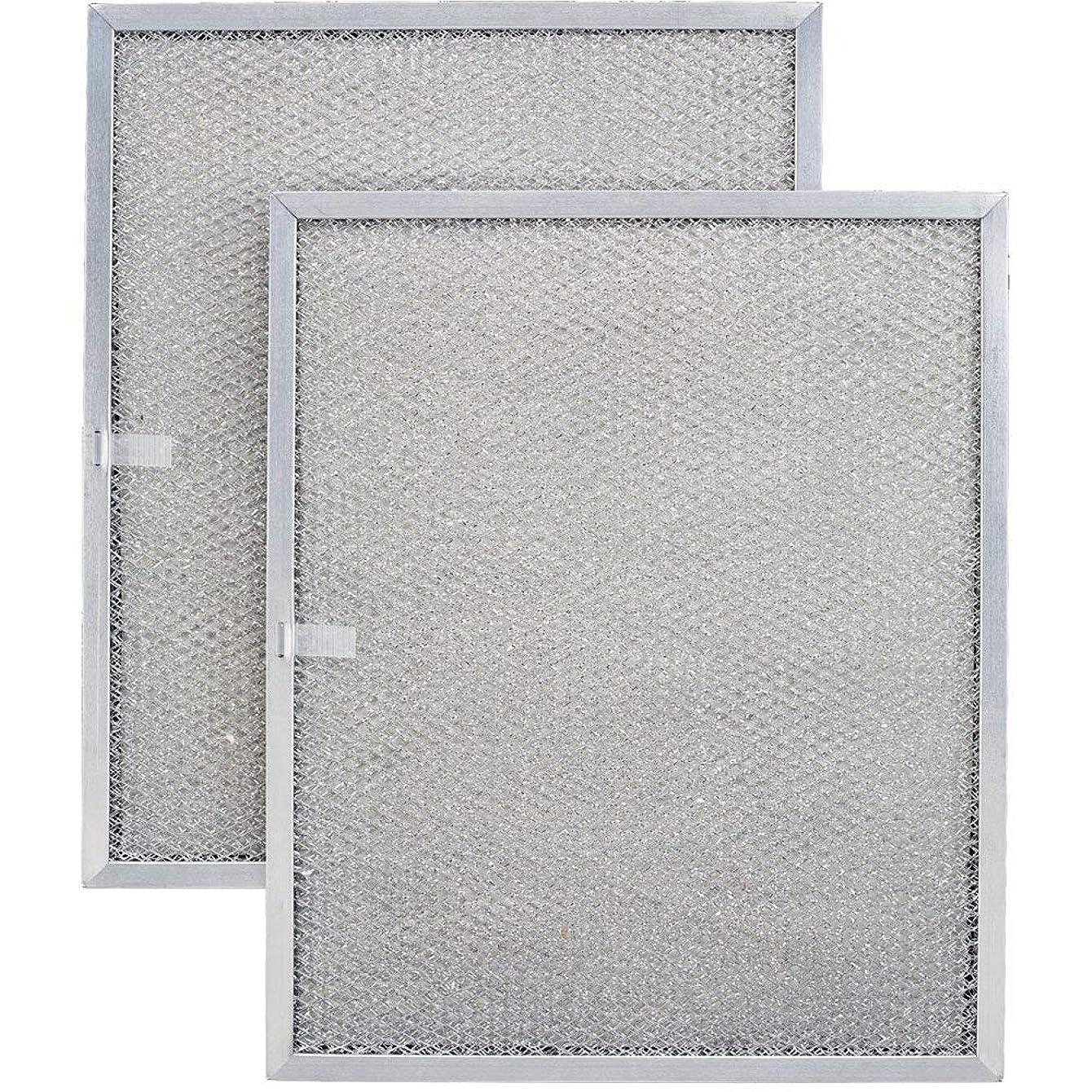 Aluminum Replacement Range Filter - Dimensions: 8-1/2 x 11-1/4 x 3/8-2 Pack