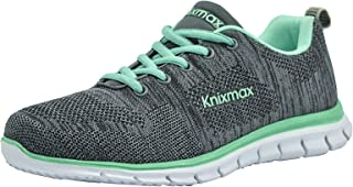 b2ff4392678f Knixmax Women's Lightweight Running Trainers Knit Gym Fitness Sports  Walking Shoes