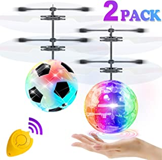 2 Pack Flying Ball Toys, RC Flying Toys for Kids Boys Girls Birthday Gifts Remote Control Drone Helicopter Rechargeable Light Up Ball Infrared Induction RC Drone for Indoor Outdoor Games
