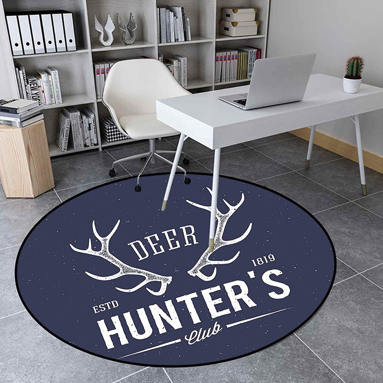 Recommendation Area Rug Round 4.3 Ft Floor Mat Room Living overseas for Carpet Hun Deer