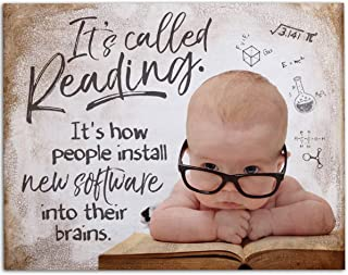 It's Called Reading Install Software Into Brain - 11x14 Unframed Art Print - Great Gift Book Lovers or for Library Wall decor