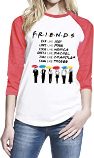 Wearuz Friends TV Show Umbrella Teen Women Baseball T-Shirt