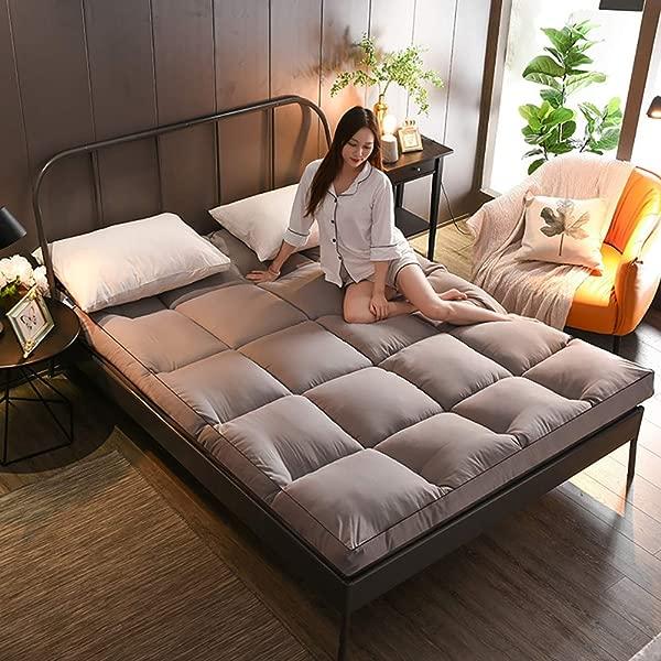 JIAOHJ Thickened 10cm Thick Mattress Folding Tatami Mattress Student Dormitory Single Double Bed Futon Bedroom Niche Sleeping Mat D 100 200cm