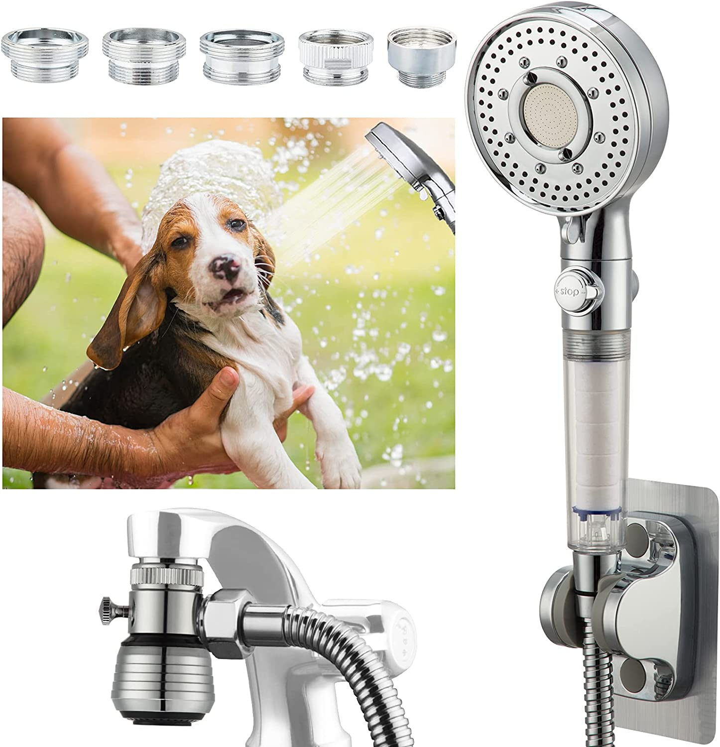 Filter Dog-Shower-Head Faucet Bathtub-Sink Limited time cheap sale Max 44% OFF Sprayer-Attachment -