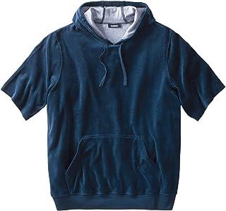 KingSize Men's Big & Tall Velour Short-Sleeve Pullover Hoodie