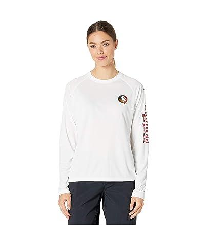 Columbia College Florida State Seminoles Collegiate Tidal Long Sleeve Shirt (White/Cabernet) Women