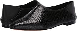 Black Croc Leather