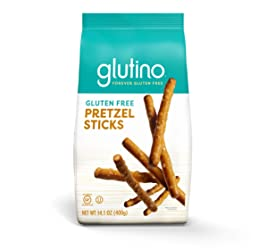 Gluten Free by Glutino Pretzel Sticks, Delicious Everyday Snack, Lightly Salted, 14.1 Ounce