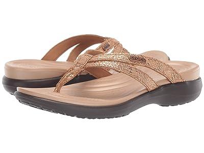 Crocs Capri Strappy Flip (Bronze/Espresso) Women