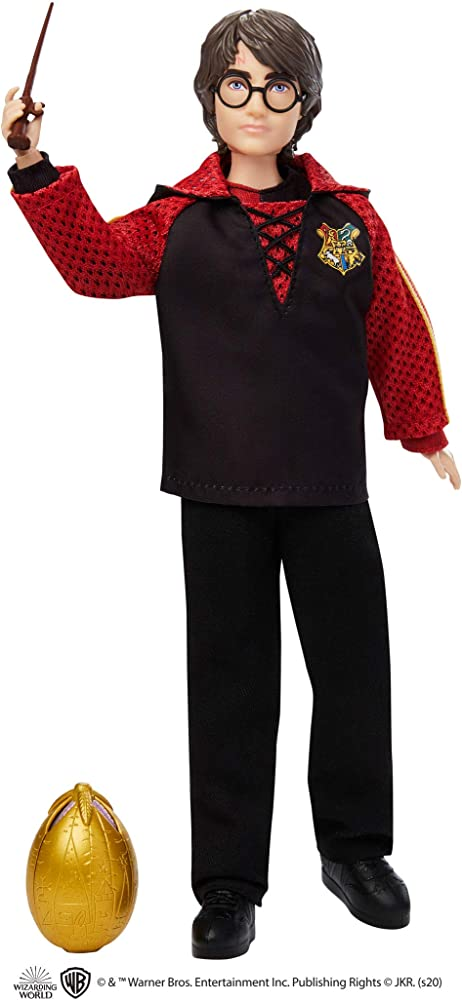 Harry potter,personaggio harry con bacchetta e uovo d`oro,30 cm GKT97