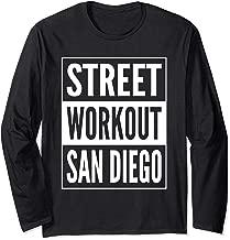Street Workout San Diego Urban Fitness Training Design Long Sleeve T-Shirt