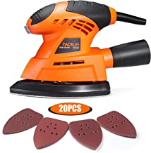 TACKLIFE Mouse Detail Sander, 12000 OPM Electric Sander with 20Pcs Sandpapers, Vacuum Cleaner Connecting Pipe, Applied in ...
